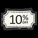 10% Off sticker