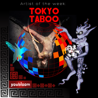 """""""Tokyo Taboo"""" Artist of the Week Graphic"""