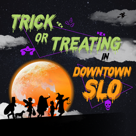 DT SLO Trick or Treating Graphic