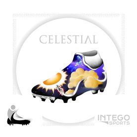 """Celestial"" Cleat Mock-Up design 1/3 for Intego Sports"