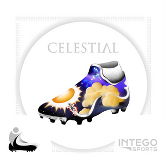 """Celestial"" Cleat Mock-Up design 1/3 for Intego Sports"