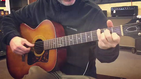 John plays fingerstyle