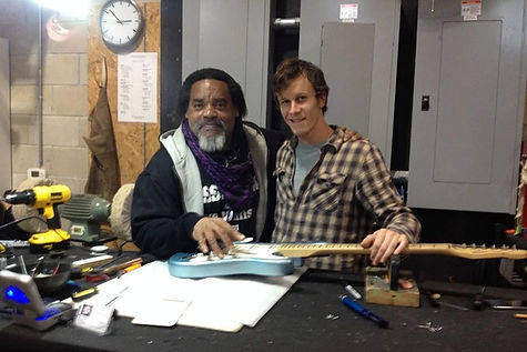 Dan with Frank Zappa guitarist Ike Willis