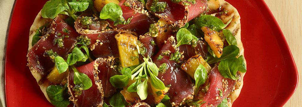 Sesame Tuna Flatbread