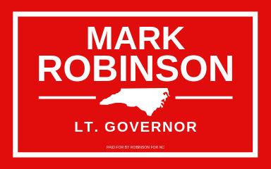 LT. Gov. MARK ROBINSON.