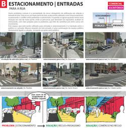 B. ESTACIONAMENTO | ENTRADAS