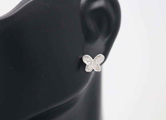 Butterfly CZ Stud Earrings With Gift Box