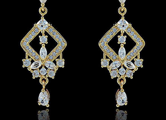 Elegant Earrings Cubic Zirconia BZ With Gift Box