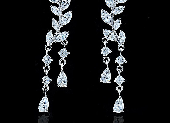 Elegant Earrings Cubic Zirconia BZ With Gift Box