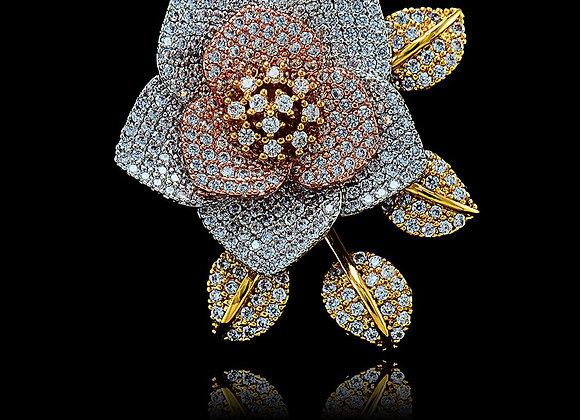 Big Rose Multi Metal Ring With Gift Box