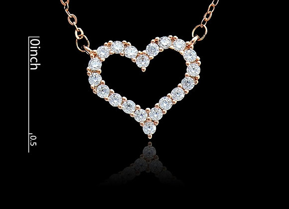 Heart Necklace Cu Zic With Gift Box