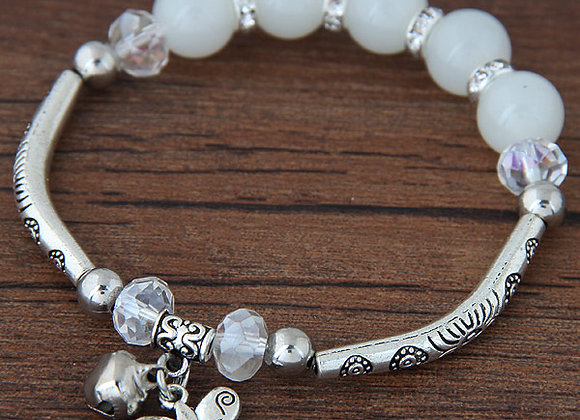 Zinc Alloy Cristal Glass Fashion Bracelet With Three Options