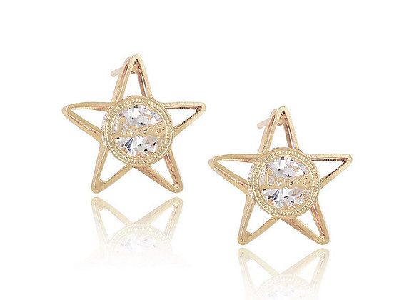 Stud Star Earrings With Gift Box