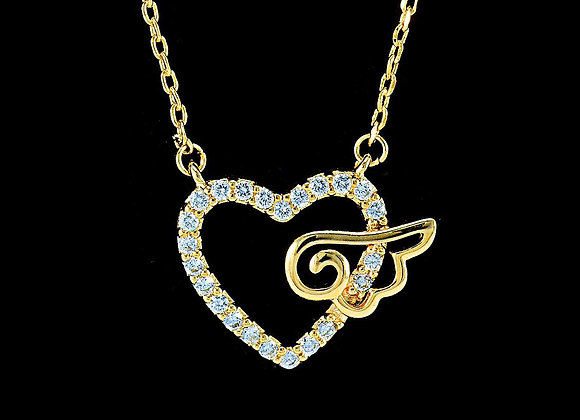Heart Necklace Cubic Zirconia BZ With Gift Box