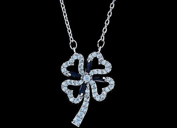 Flower Necklace Cubic Zirconia BZ With Gift Box