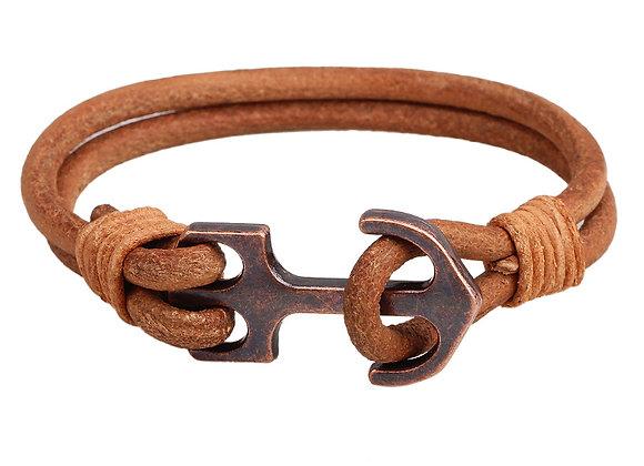 Unisex Zinc Alloy Anchor Clasp Bracelets