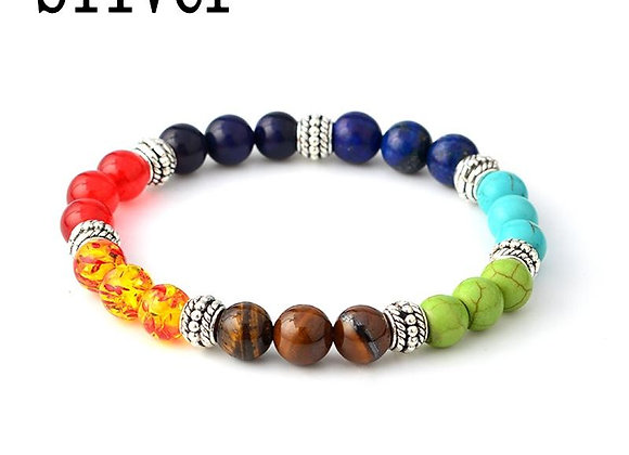 Multi Color Stone Beads Bracelets