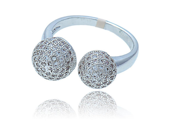 CZ BZ Ball Ring With Gift Box