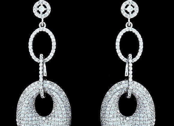 Earrings Cubic Zirconia BZ With Gift Box