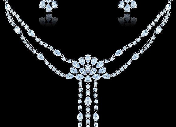 Necklace Set Cubic Zirconia With Gift Box