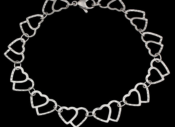 Heart Link Stainless Steel Bracelet