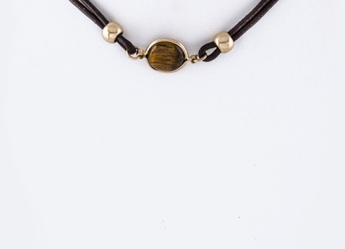 Delicate Brown Choker Necklace With Gift Box