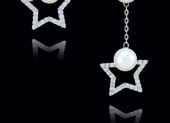 Star Pearl Unique Style Earrings With Gift Box