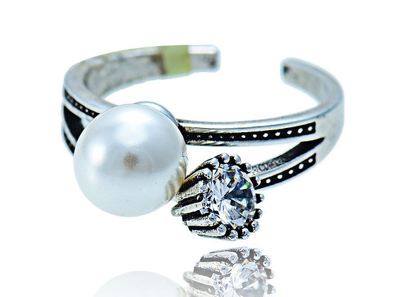Ring Antique Pearl With Gift Box