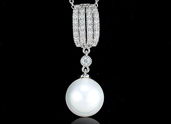 Pearl Necklace BZ With Gift Box