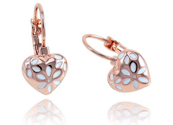 Hoop Earrings Heart With Gift Box