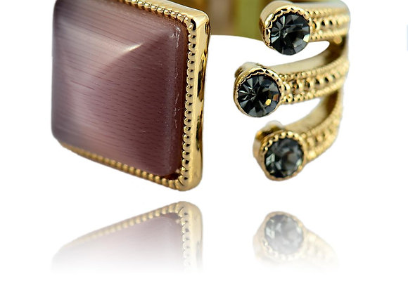 Brown Zc Alloy Ring With Gift Box