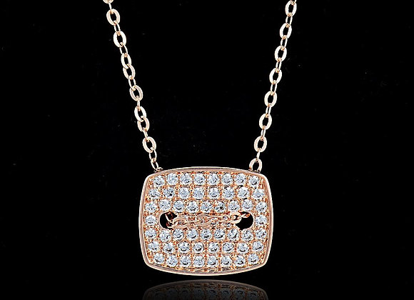 Micro Pave Setting Necklace With Gift Box