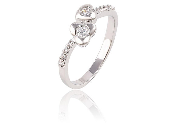 Heart Adjustable Ring With Gift Box