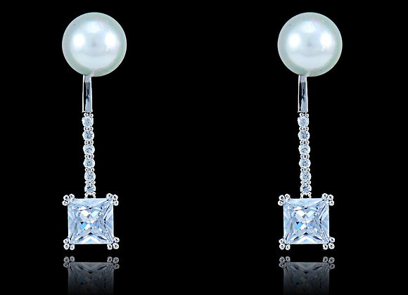 Bridal Pearl Earrings With Gift Box