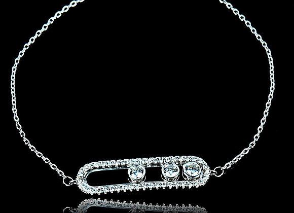 Elegant Bracelet CZ BZ With Gift Box