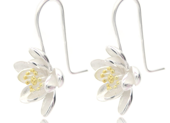 Floral 925 SS Earrings With Gift Box