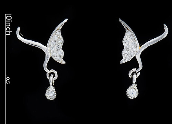 Butterfly Earrings 925 Sterling Silver With Gift Box