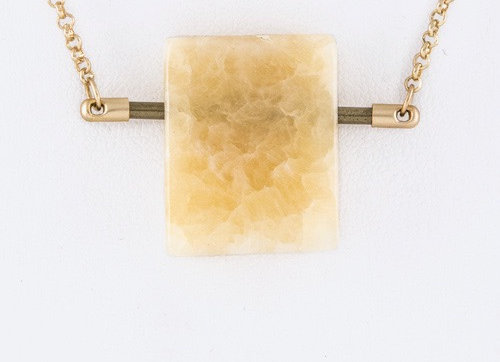 Agate Orange Rough Necklace With Gift Box