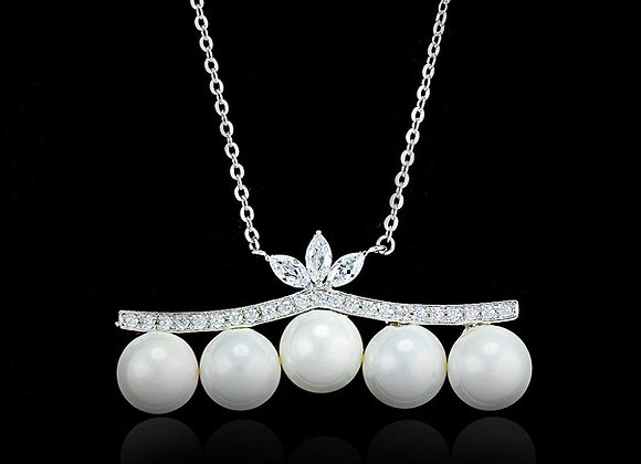 Five Pearl Necklace With Gift Box