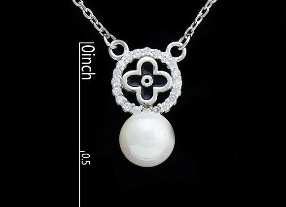 Pearl 925 SS Necklace With Gift Box