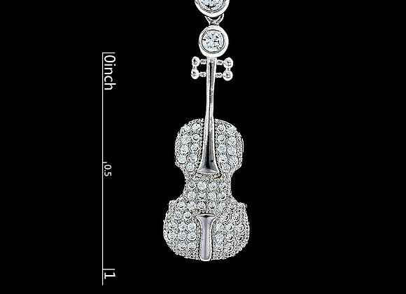 Swarovski Ele Violin Necklace With Gift Box