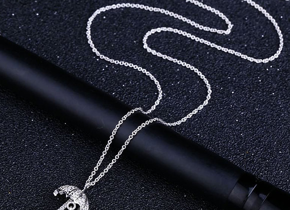 Cubic Zirconia Umbrella Elegant Necklace
