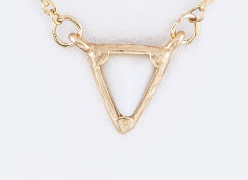 Triangle Necklace With Gift Box