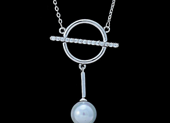 Pearl Fashion Circle Necklace With Gift Box