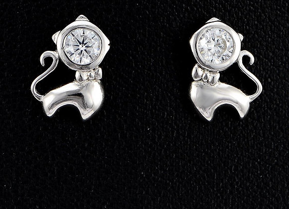 925 SS Dog Earrings With Gift Box