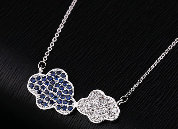 Cubic Zirconia Cloud Elegant Necklace