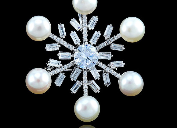Brooches Pearl Cubic Zirconia