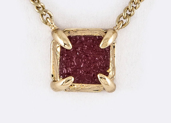 Small Square Pendant Necklace With Gift Box
