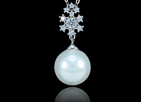 Pearl Elegant Necklace Cubic Zirconia BZ With Gift Box