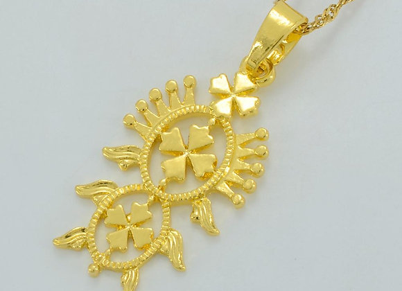 Gold Plated Pendant Necklace With Gift Box